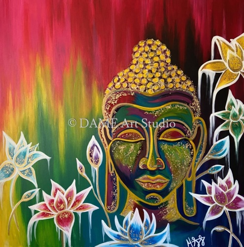 The Buddha with Lotus Flowers