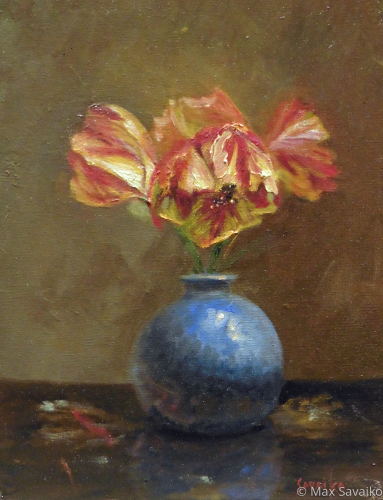 Rembrandt in a Blue vase