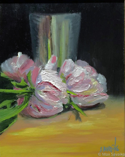 Peonies and silver