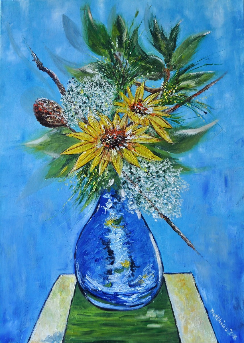 Sunflower Ikebana  (large view)
