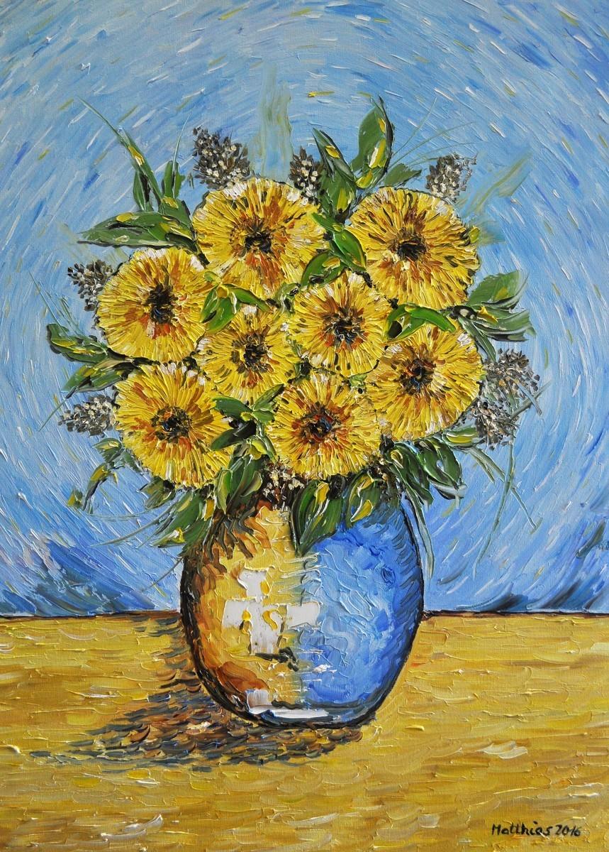 Yellow Gerberas in Vase  (large view)