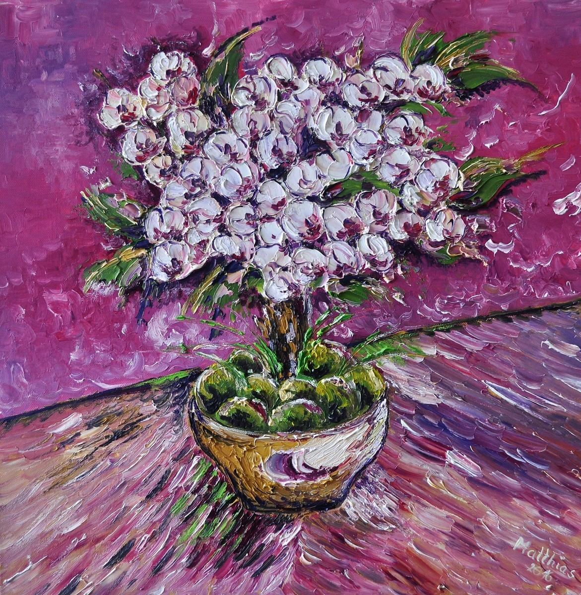 Cherry Blossoms in Pot      (large view)