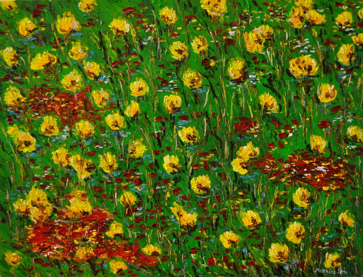 Poppy and Sunflower Field       (large view)