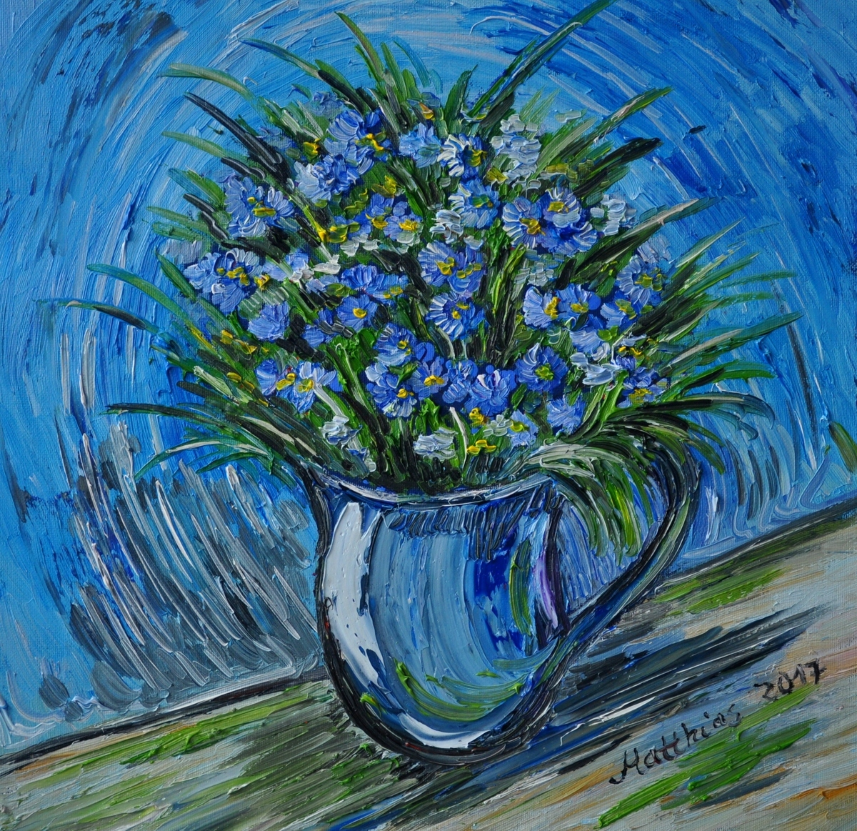 Forget-me-not  in Vase                 (large view)