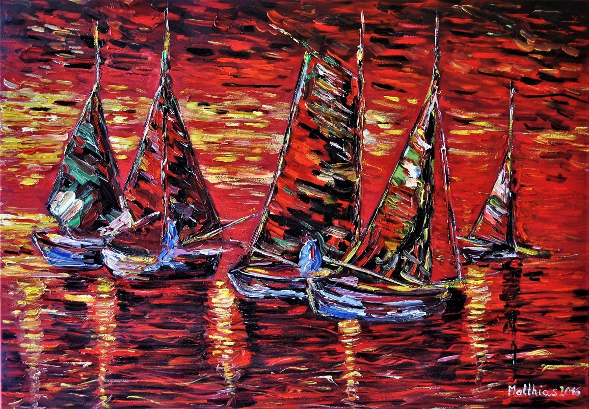 Sailing Boats at Sunset   (large view)
