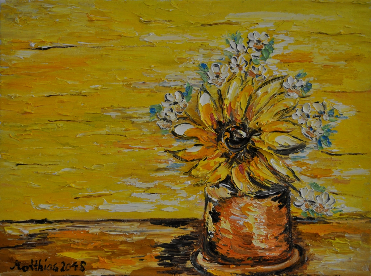 Sunflower and White Flowers  (large view)