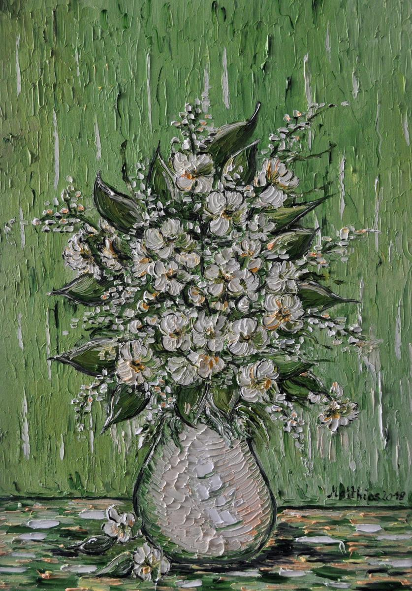 Jasmine Flowers in Vase  (large view)