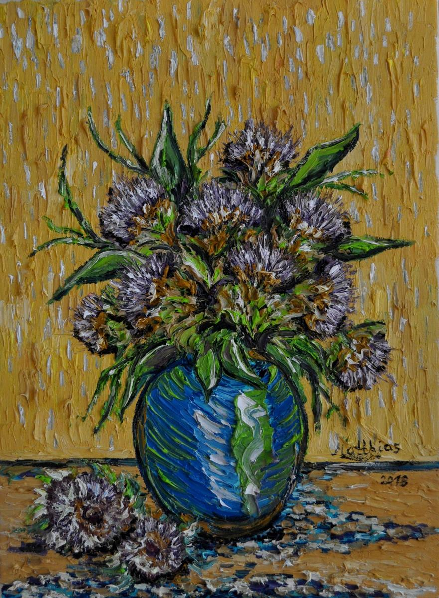 Thistles in Vase                    (large view)