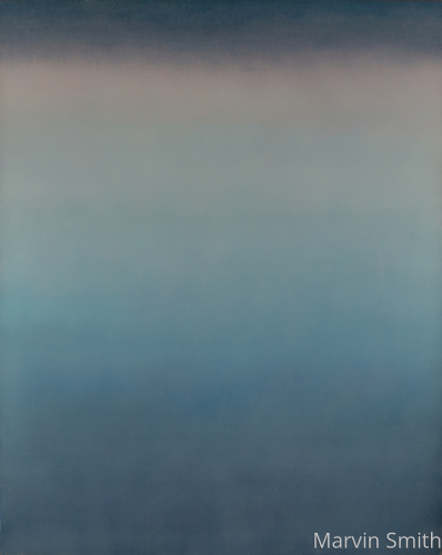 Untitled (Cerulean & Violet) by Marvin Smith