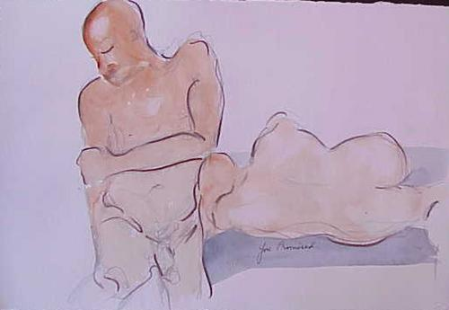 Two Figures-Drawing