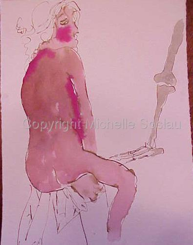 Seated Model with Skeleton Foot (large view)