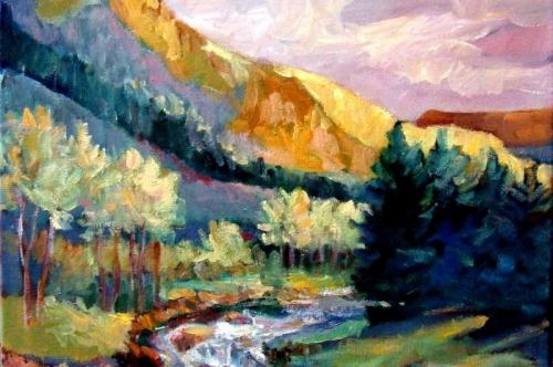 Fraser River Morning by M.S.Ryan Fine Arts