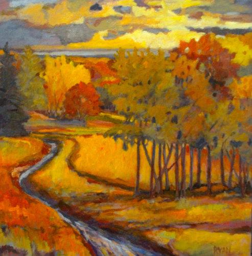 Yellow Marker by M.S.Ryan Fine Arts