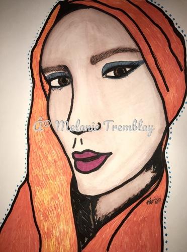 Girl in the Orange Scarf
