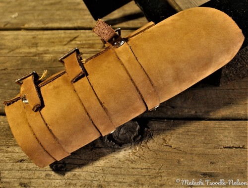 ALL LEATHER ARM BAND  by Malachi Tsoodle-Nelson