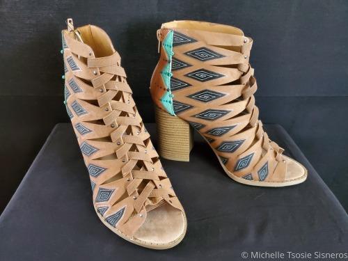 Braided Diamond Shape Sandal by Michelle Tsosie Sisneros