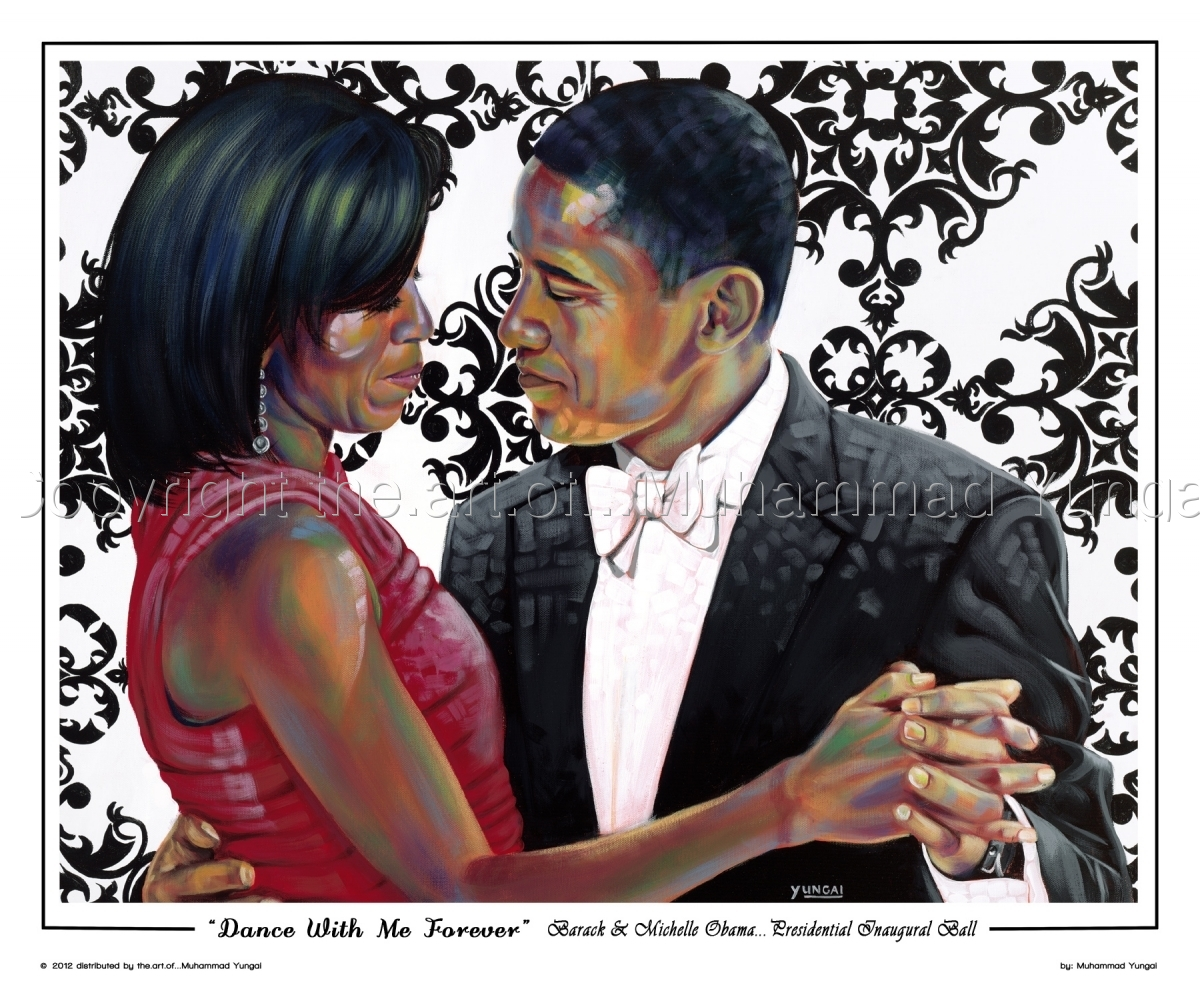 Barack and Michelle Obama, dances at the Presidential Inaugural Ball. (large view)