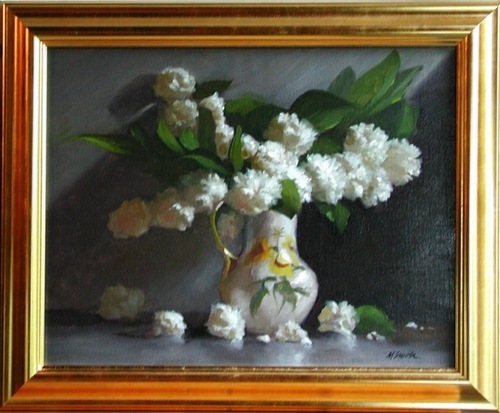 White Peonies by Murray Smith