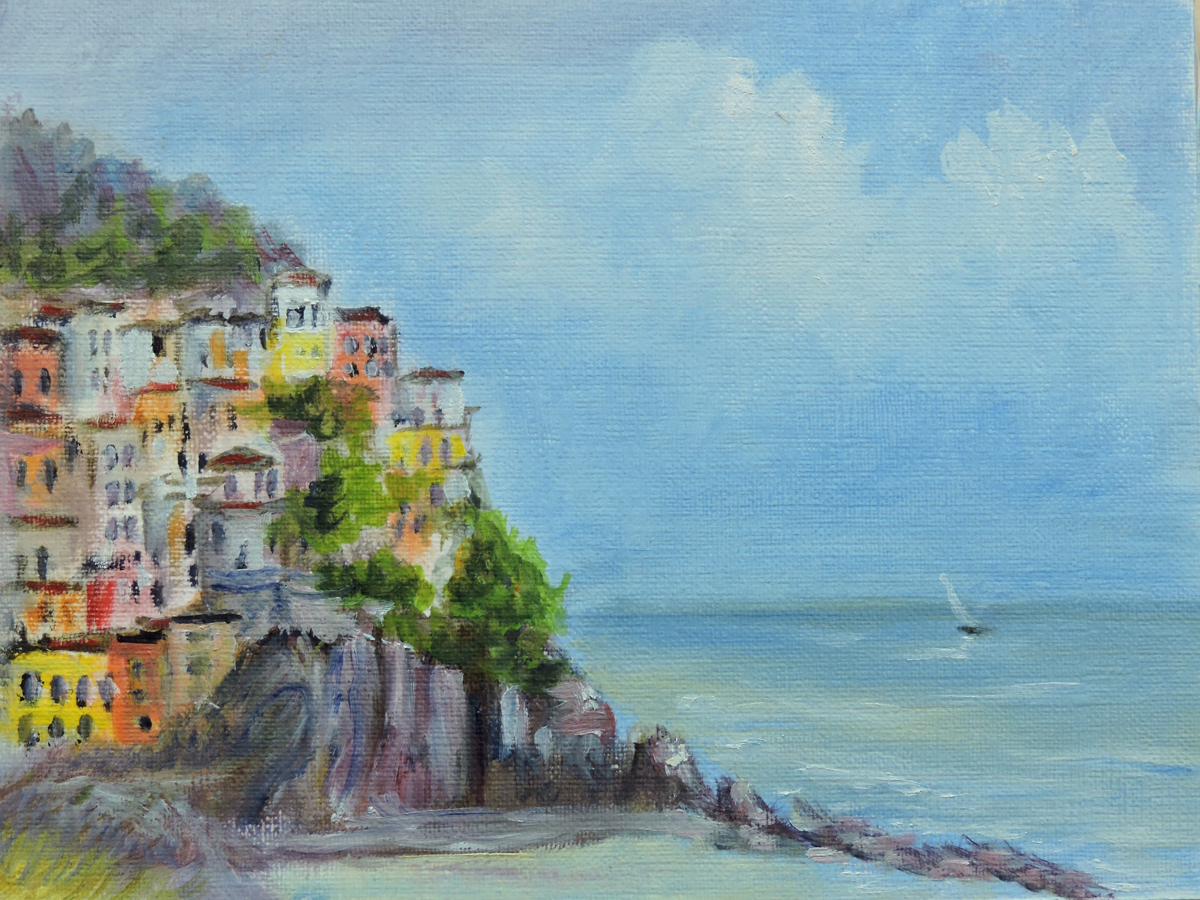 Painting Italy Cinque Terre (large view)