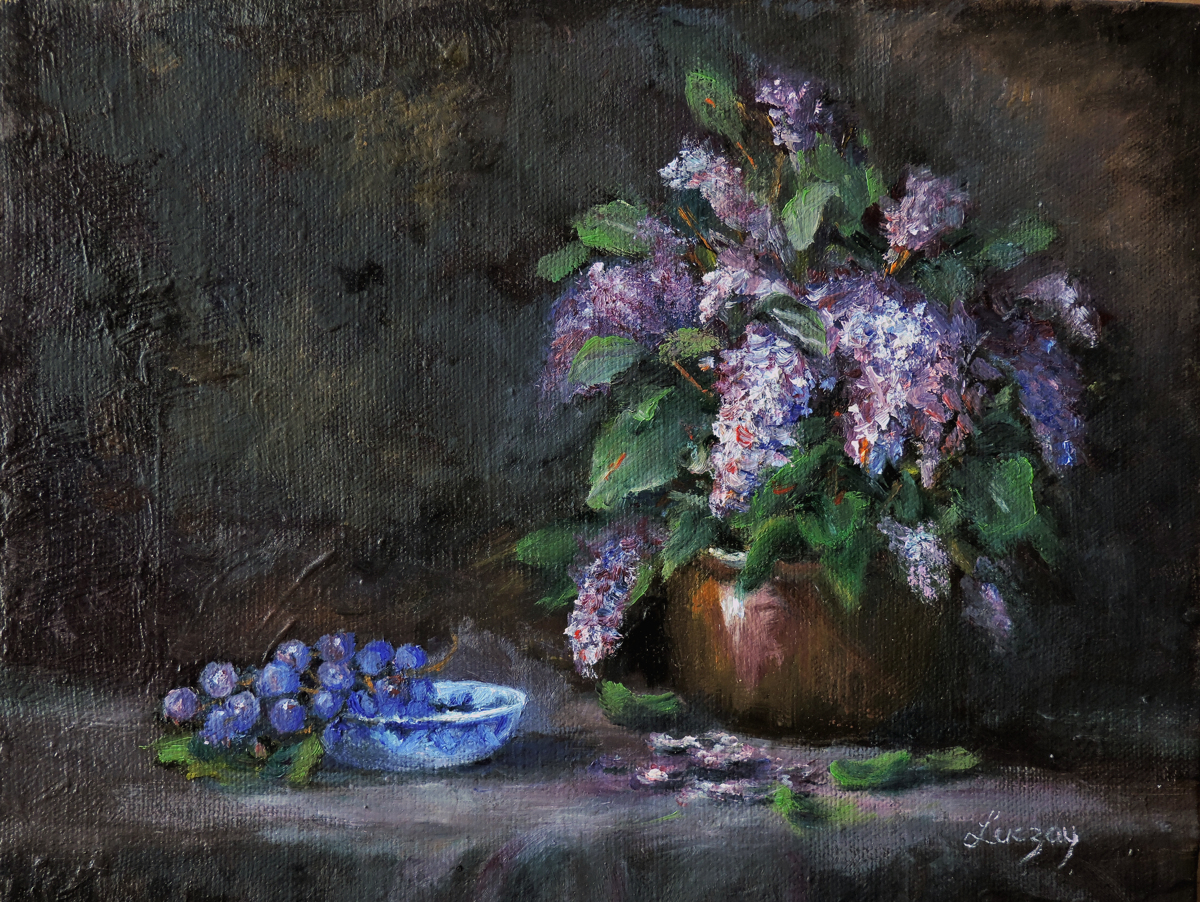 Lilacs spring still life (large view)