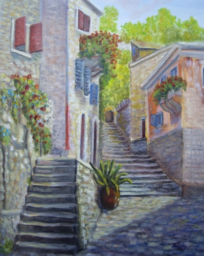 Sicily Italy by Contemporary Paintings of American landscapes and seascapes  by Luczay