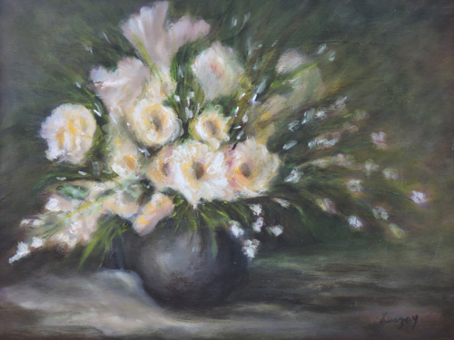 Still Life Painting of Roses by Contemporary Paintings of American landscapes and seascapes  by Luczay