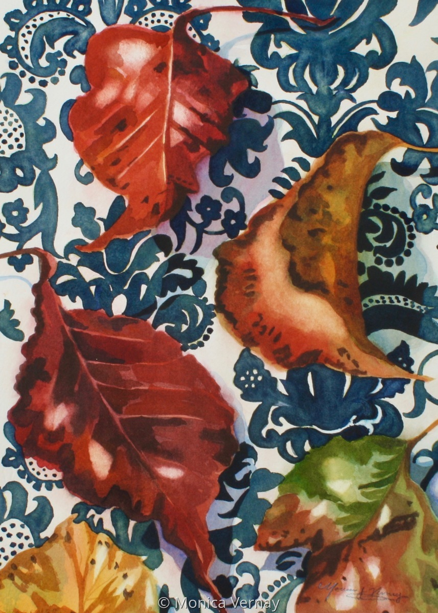 Fallen Leaves on Fabric (large view)