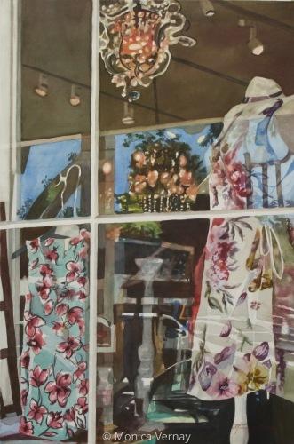Boutique Window- Main Street #2 by Monica J Vernay