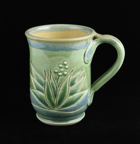 Tall Jade Agave Mug