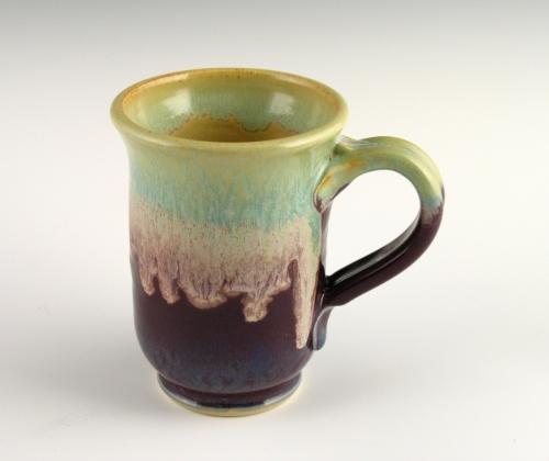 Eggplant & Turquoise Mug