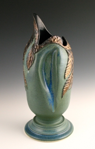 Vessel with Bronze Leaves