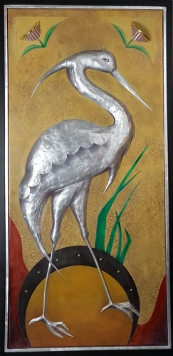 Heron Panel by Monte Voepel