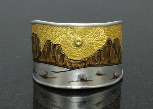 Desert Landscape Cuff Bracelet