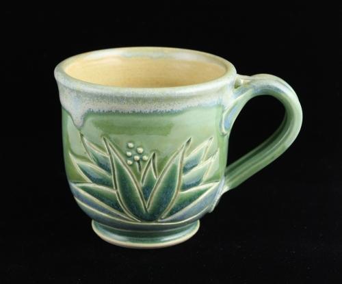 Jade Agave Stoneware Mug by Monte Voepel