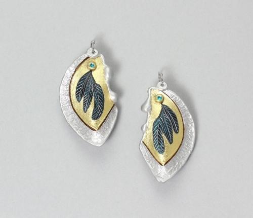 Raven Feather Earrings