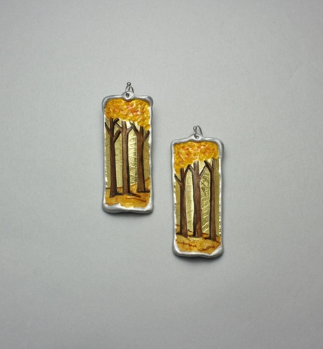 Sunrise Forest Path Earrings