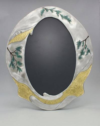 Oval Forest Mirror