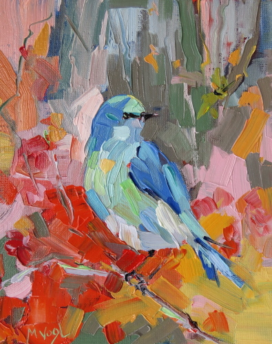 Mountain Bluebird | oil on panel
