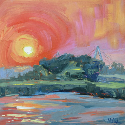 Ravenel Sunset | oil on canvas