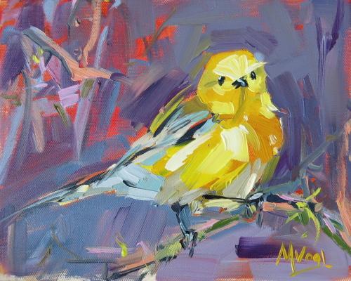 Lemon Bird | oil on canvas