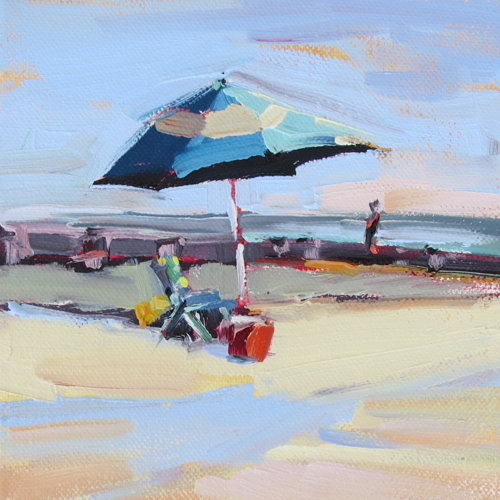 December Beach Day | oil