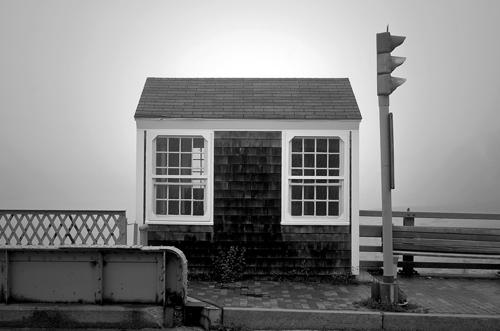 Bridge Tender's House in Fog