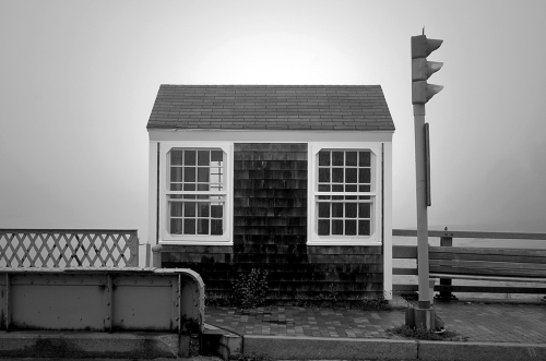 Bridge Tender's House in Fog