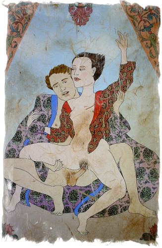 Erotica in Paisley Robe by Marcia Wyrobeck