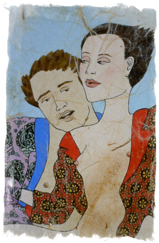Erotica in Paisley Robe Detail