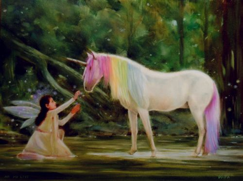 Rachie Roo and Rainbow The Unicorn by Mystical Mikes Art Emporium