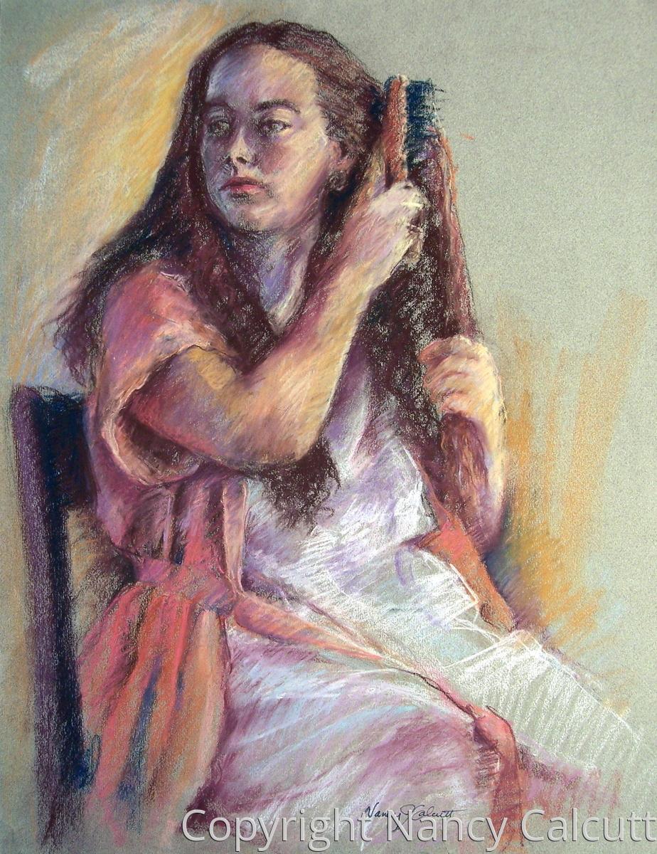 Woman Brushing Hair (large view)