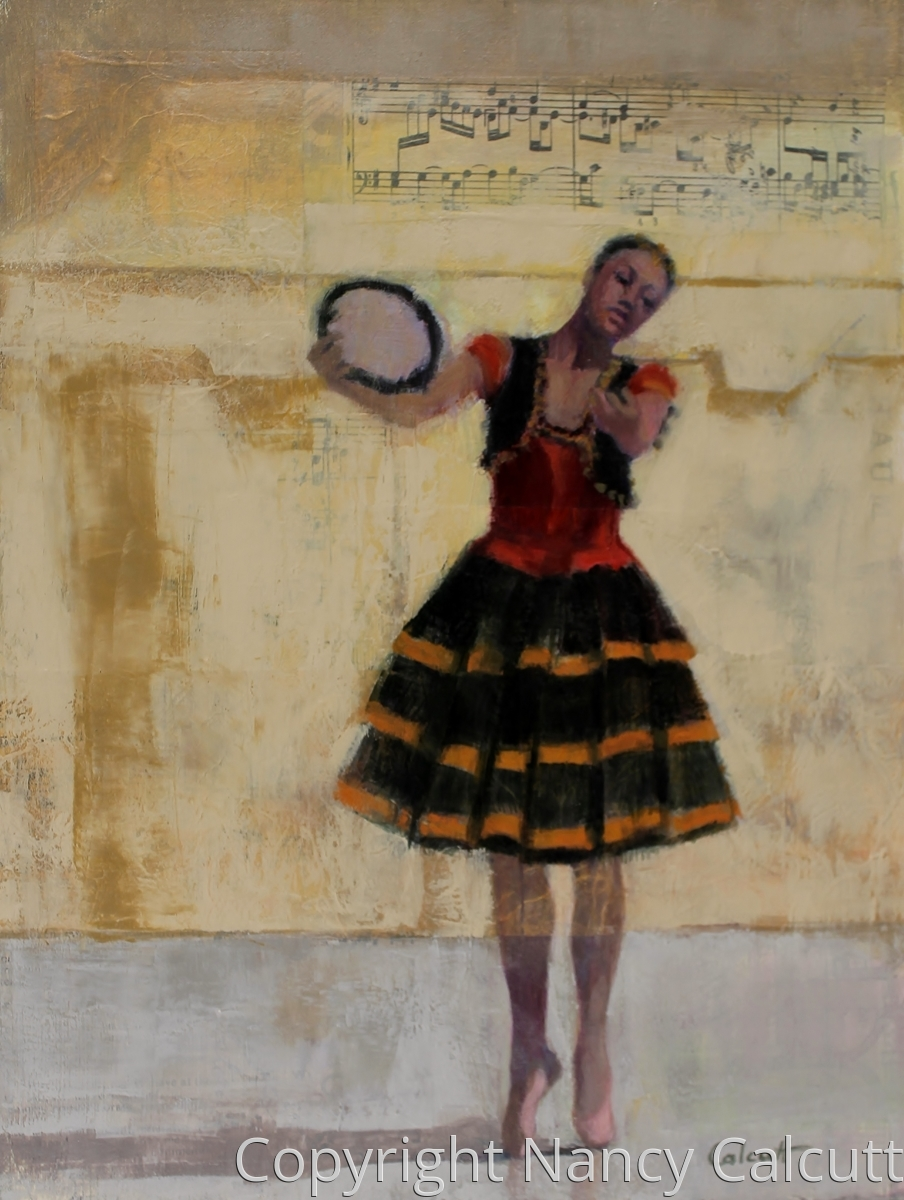 Ballerina with Tambourine (large view)