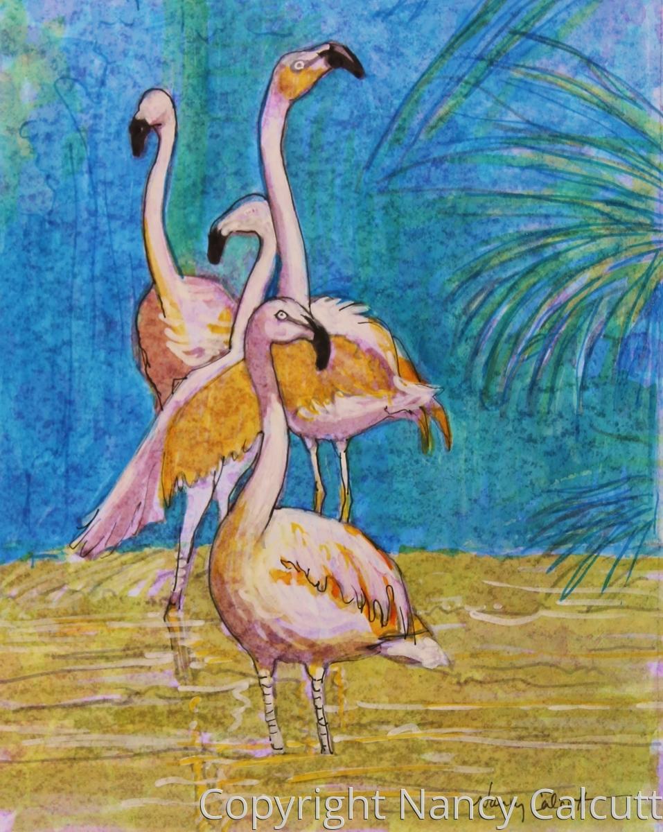 Four Flamingos (large view)