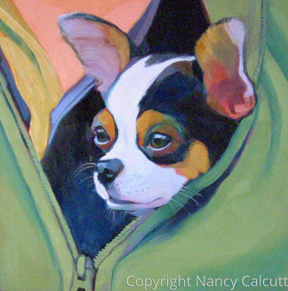 Chihuahua in a Green Jacket (large view)